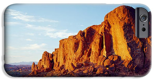 Red Rock iPhone Cases - Red Rock At Summer Sunset, Valley Of iPhone Case by Panoramic Images