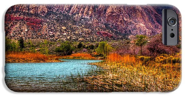 Fault iPhone Cases - Red Rock Canyon Conservation Area iPhone Case by David Patterson