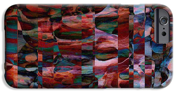 Abstract Digital iPhone Cases - Red Rock Canyon Jazz and Blues iPhone Case by Stephanie Grant