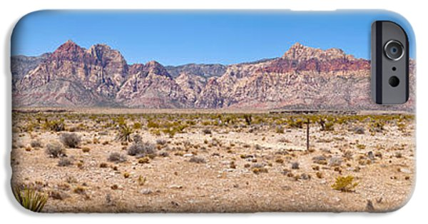 Red Rock iPhone Cases - Red Rock Canyon Near Las Vegas, Nevada iPhone Case by Panoramic Images