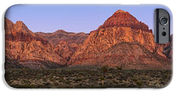 Red Rock iPhone Cases - Red Rock Canyon pano iPhone Case by Jane Rix