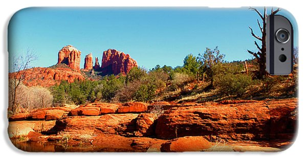 Cathedral Rock iPhone Cases - Red Rock Crossing iPhone Case by Howard Bagley