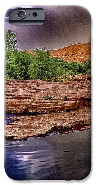 Red Rock Crossing Red Rock State Park iPhone Case by  Bob and Nadine Johnston