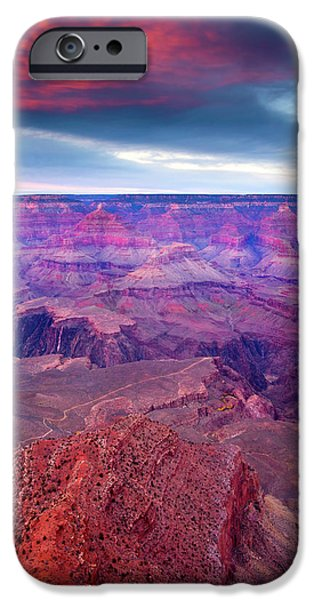 Grand Canyon iPhone Cases - Red Rock Dusk iPhone Case by Mike  Dawson