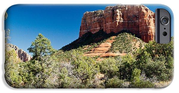 Sedona iPhone Cases - Red Rock Formation Near Sedona Arizona 4 iPhone Case by Douglas Barnett