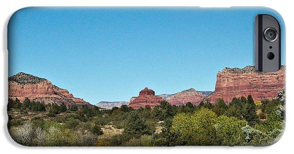 Sedona iPhone Cases - Red Rock Formation Sedona Arizona 17 iPhone Case by Douglas Barnett