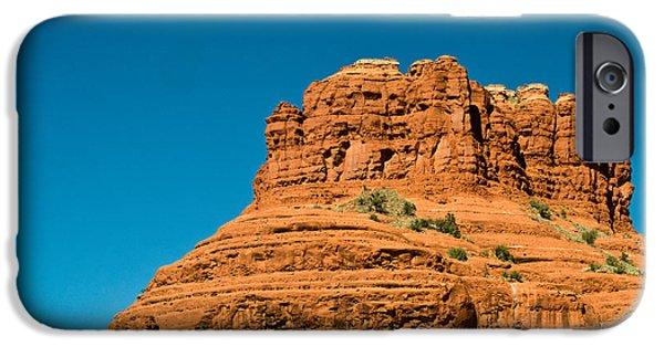 Sedona iPhone Cases - Red Rock Formation Sedona Arizona 22 iPhone Case by Douglas Barnett