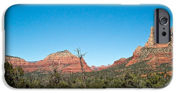 Sedona iPhone Cases - Red Rock Formations Near Sedona Arizona 2 iPhone Case by Douglas Barnett