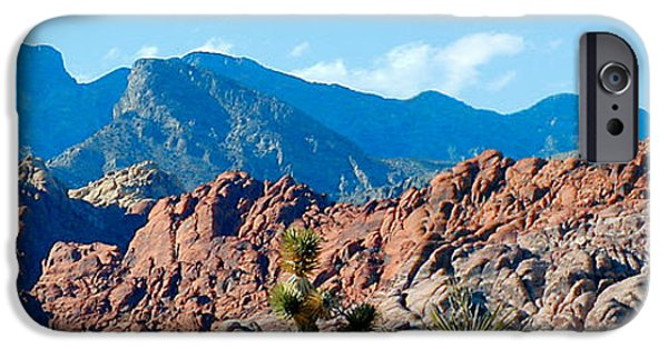 Panoramic Pyrography iPhone Cases - Red Rock Las Vegas iPhone Case by Apollo Environmental Artist