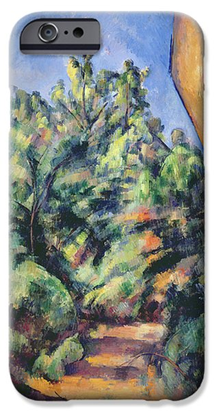 Red Rock iPhone Cases - Red Rock iPhone Case by Paul Cezanne