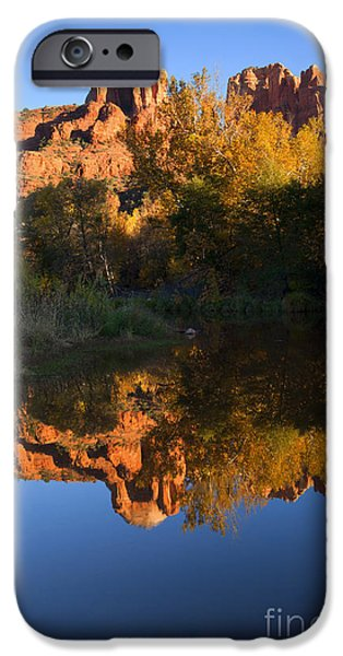 Sedona iPhone Cases - Red Rock Reflections iPhone Case by Mike  Dawson