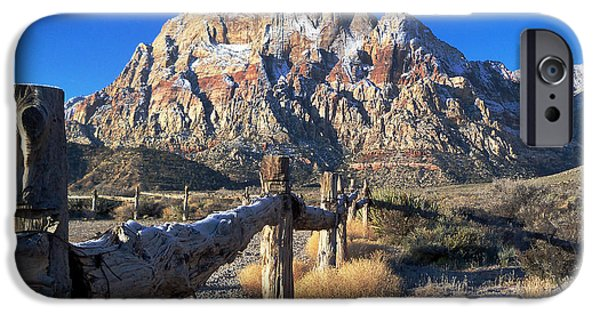 Oak Creek iPhone Cases - Red Rock Snow iPhone Case by Alan Socolik
