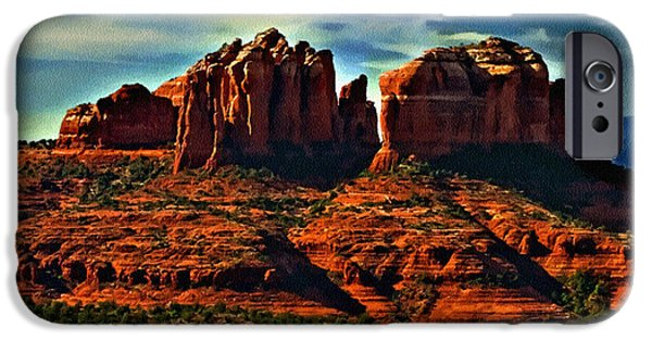 Oak Creek iPhone Cases - Red Rock State Park Arizona Sunrise iPhone Case by  Bob and Nadine Johnston