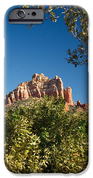 Oak Creek iPhone Cases - Red Rocks at Oak Creek Canyon 1 iPhone Case by Douglas Barnett