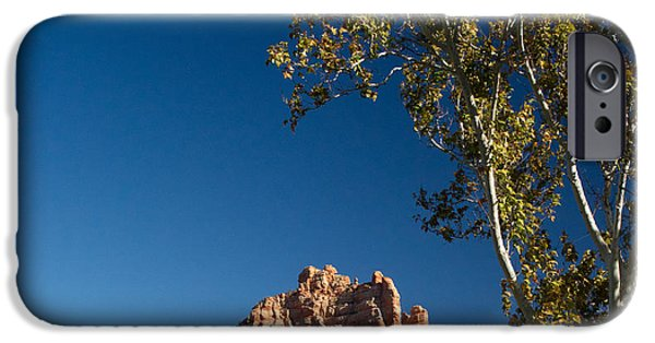 Oak Creek iPhone Cases - Red Rocks at Oak Creek Canyon 7 iPhone Case by Douglas Barnett