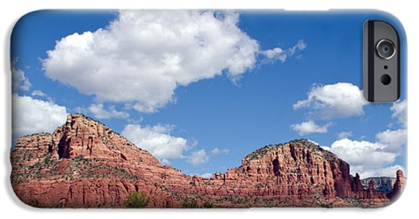 Cathedral Rock iPhone Cases - Red Rocks in Sedona Arizona iPhone Case by Donna Van Vlack