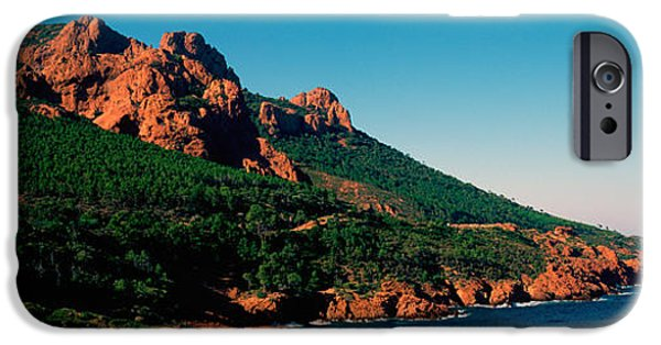 Red Rock iPhone Cases - Red Rocks In The Late Afternoon Summer iPhone Case by Panoramic Images