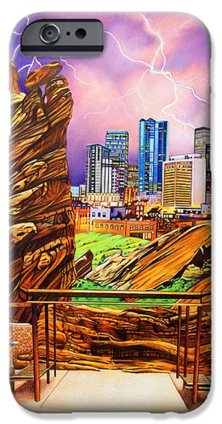 The Dave Matthews Band iPhone Cases - Red Rocks iPhone Case by Joshua Morton