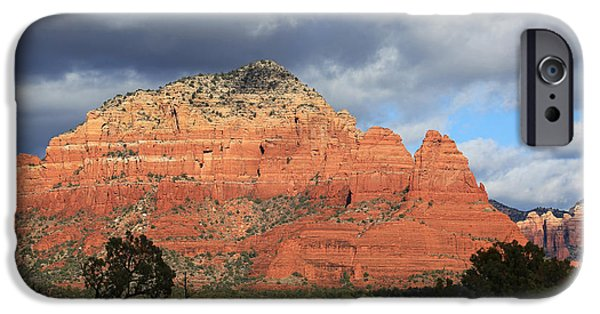 Sedona iPhone Cases - Red Rocks of Sedona 3 iPhone Case by Donna Kennedy