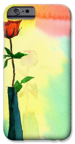 Red Rose 1 iPhone Case by Anil Nene