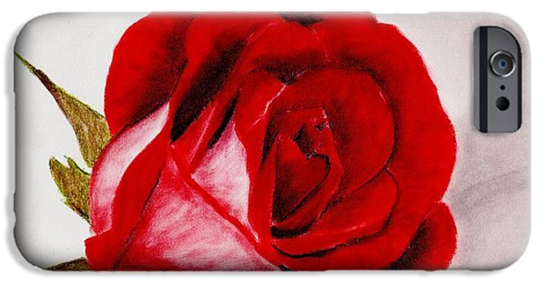 Girl iPhone Cases - Red Rose iPhone Case by Anastasiya Malakhova