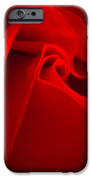 Flora iPhone Cases - Red Rose Macro iPhone Case by Wim Lanclus