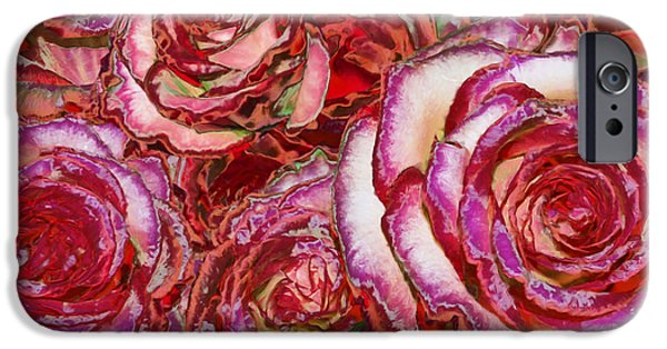 Red Photographs iPhone Cases - Red Roses Painting iPhone Case by Alixandra Mullins