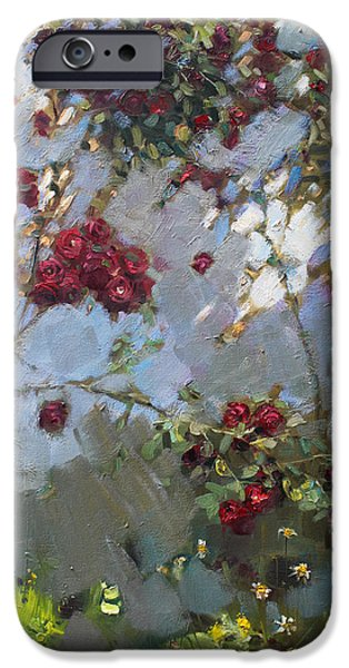 Rose iPhone Cases - Red Roses iPhone Case by Ylli Haruni