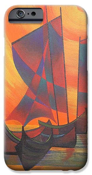 Red Sails In The Sunset iPhone Case by Tracey Harrington-Simpson