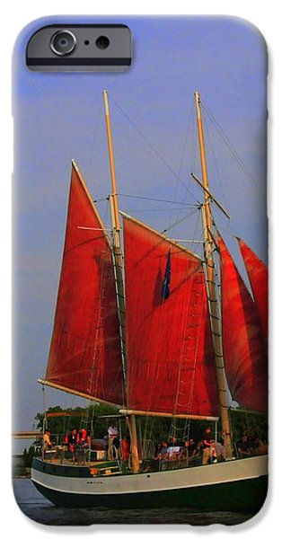 Red Sails iPhone Case by Kathleen Struckle