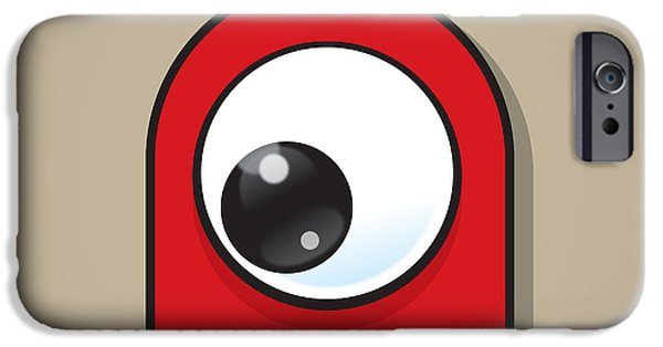 Red Eye iPhone Cases - Red iPhone Case by Samuel Whitton
