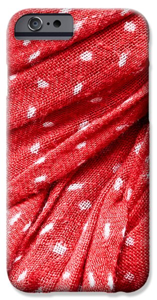 Fashion Abstract Art iPhone Cases - Red scarf iPhone Case by Tom Gowanlock