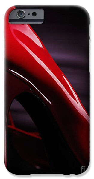 Red sexy high heels abstract iPhone Case by Oleksiy Maksymenko