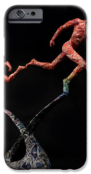 Red Shift a science sculpture by Adam Long iPhone Case by Adam Long