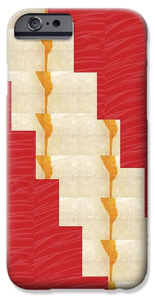 Diy iPhone Cases - Red Silken Base CROSS through Art Decoration iPhone Case by Navin Joshi