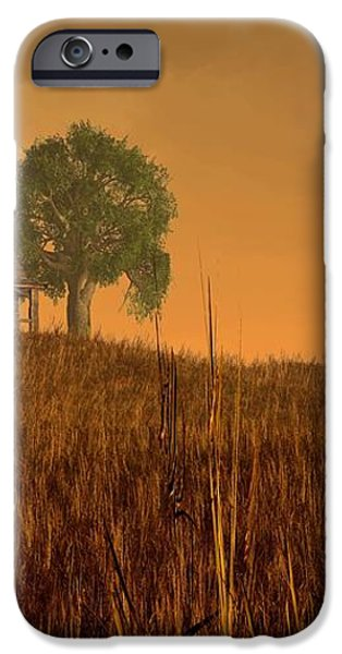 Red Skies at Night iPhone Case by Daniel Eskridge