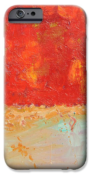 Alizarin Crimson iPhone Cases - Red Sky At Night iPhone Case by Paulette B Wright