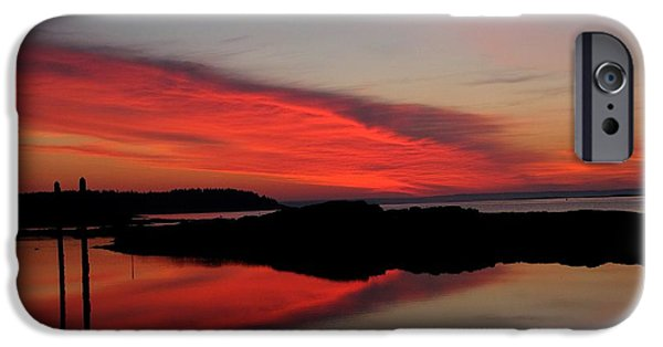 Garrison Cove iPhone Cases - Red Sky In Morning iPhone Case by Donnie Freeman