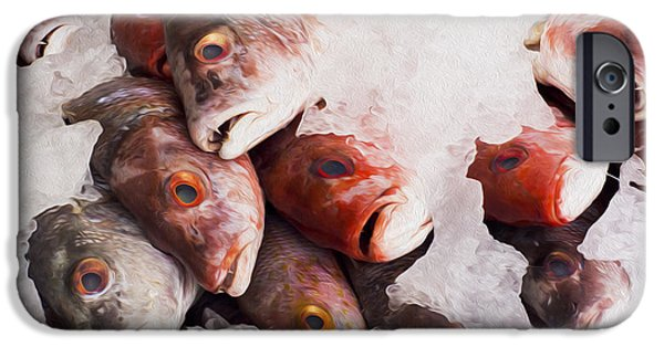 Protein iPhone Cases - Red Snapper iPhone Case by Aged Pixel