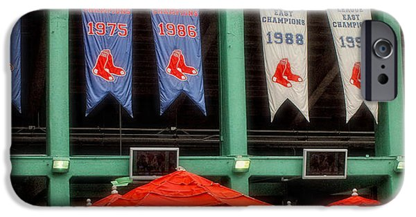 Red Sox Game iPhone Cases - Red Sox Champion Banners iPhone Case by Joann Vitali