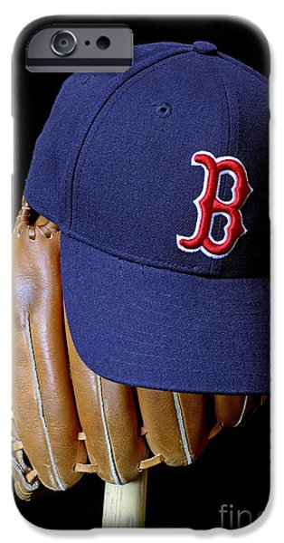 Baseball Glove iPhone Cases - Red Sox Nation iPhone Case by John Van Decker