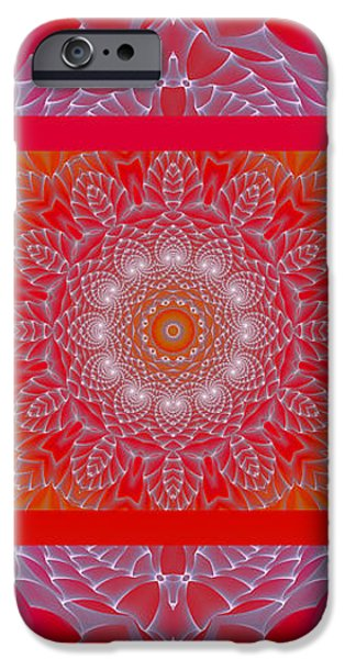 Red Space Flower iPhone Case by Hanza Turgul