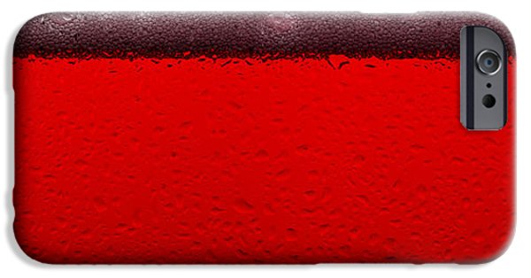 Rose iPhone Cases - Red Sparkling Wine iPhone Case by Steve Gadomski