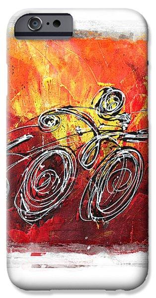 Red Splash Triathlon iPhone Case by Alejandro Maldonado