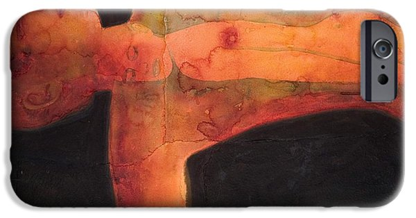 Recently Sold -  - Beauty Mark iPhone Cases - Red Spot iPhone Case by Graham Dean