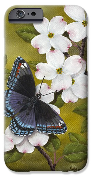 Insect iPhone Cases - Red Spotted Purple iPhone Case by Rick Bainbridge