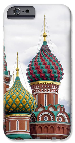 St John The Russian iPhone Cases - Red Square - St Basils - Moscow Russia iPhone Case by Jon Berghoff