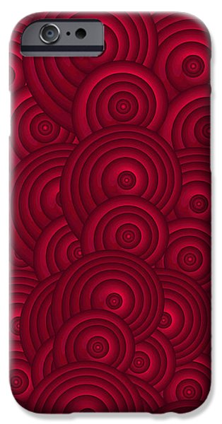 Red Wine Prints iPhone Cases - Red Swirls iPhone Case by Frank Tschakert