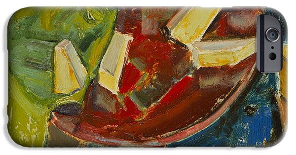 Abstract Expressionist iPhone Cases - Red Table Top Still Life iPhone Case by Alfred Henry Maurer