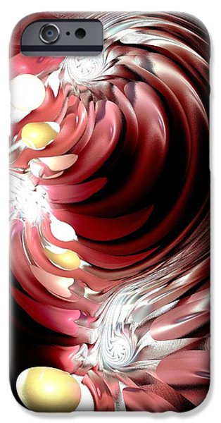 Flame iPhone Cases - Red Tides iPhone Case by Anastasiya Malakhova
